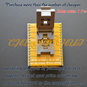 IC TEST WSON32 to DIP32 Programmer adapter DFN32 MLF32 QFN32 ic test socket Pitch=0.5mm Size=5x5mm 37832