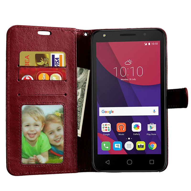 "Telefon case alcatel pop 4 + case silikon kapak 5.5 için ""lüks cüzdan retro deri telefon kapak için alcatel pop 4 plus case çapa 3"